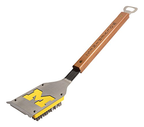YouTheFan NCAA Michigan Wolverines Grill Brush