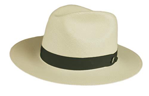 Stetson Gulfport Men's Shantung Straw Center Dent Fedora Hat Natural Made In USA (7 3/8)