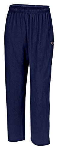 Hanes P7309 Mens Open Bottom Jersey Pants, Navy Blue - Extra Large