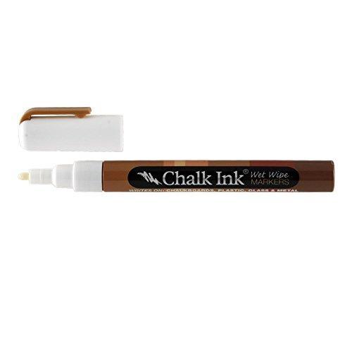 Chalk Ink Fine Tip Wet Wipe Marker, 1 mm, Chalk (Fine Tip Chalk Marker)