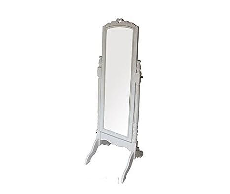 MAXIOCCASIONI Standspiegel, neigbar, Holz, Weiß Shabby Chic: Amazon ...