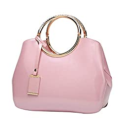 Sunyongsh Women S Fashion Bags Leather Shoulder Messenger Crossbody Bags Casual Clutch Totes Pink
