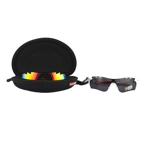 TabStore XQ182 3 Lens Outdoor Sports Polarized Sunglasses Cycling Glasses White Frame