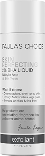 Paulas Choice--SKIN PERFECTING 2% BHA Liquid Salicylic Acid Exfoliant--Facial Exfoliant for Blackheads, Enlarged Pores, Wrinkles & Fine Lines, 4 oz Bottle