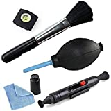 5 in 1 Lens Cleaning Cleaner Dust Pen Blower Cloth Kit For Canon/Nikon Camera
