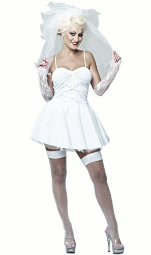 1980 Fancy Dress Costumes Uk (1980s Madonna White Female Fancy Dress Costume - Medium (US 10-12))
