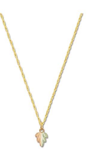 10K Black Hills Gold Split-Leaf Pendant with 12K Leaves