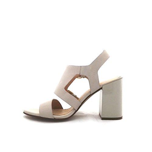 Cafenoir Lc122 413 - Sandalias de vestir de Piel para mujer hueso blanco perla (ral 1013)