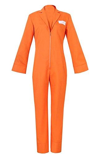 ZYHCOS Cosplay Costumes Orange Coverall Halloween Suit Uniform Jumpsuit (Womens-S)