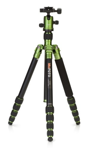 MeFOTO RoadTrip Classic Lightweight 61.6 Aluminum Travel Tripod/Monopod w/Case, Twist Locks, Triple Action Ballhead w/Arca Swiss Plate for Mirrorless/DSLR Sony Nikon Canon Fuji - Green (A1350Q1G)