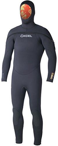 Fleece Hooded Wetsuit - Xcel 9/7/6mm Men's Polar ThermoFlex TDC Scuba Hooded Wetsuit - Black, MT