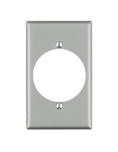 Dryer Wall Plate - Leviton 4927 1-Gang Flush Mount 2.15 Inch Dia. Device Receptacle Wallplate, Standard Size, Steel, Device Mount, Aluminum