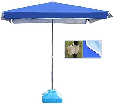 LXDDP Sombrilla jardín, Sombrillas Sombrilla Patio Rectangular Azul Sombrilla Mesa Mercado al Aire Libre, jardín, Patio, Mercado Eventos comerciales Playa, Camping, Junto a la Piscina: Amazon.es: Deportes y aire libre