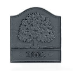 Woodfield Great Oak Cast Iron Fireback, Current Year Date by Woodfield