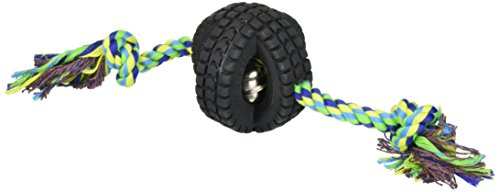 (Pet Qwerks Small Jingle X-Tire Ball with Single Rope)