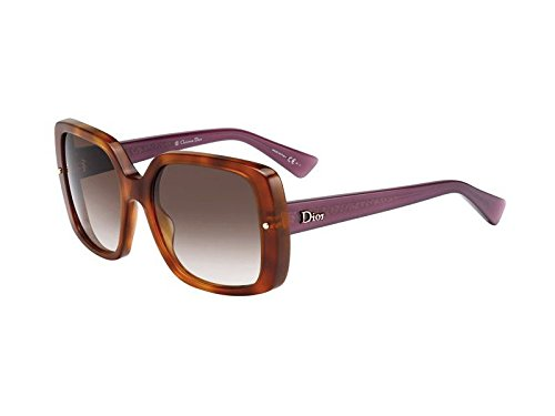 Christian Dior Jupon 1/S Sunglasses Light Havana / Brown Violet Shaded
