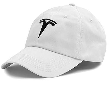 Amazon.com  JSAMZ Tesla Car Logo Baseball Cap (Logo (White))  Automotive 5eb2606fec3
