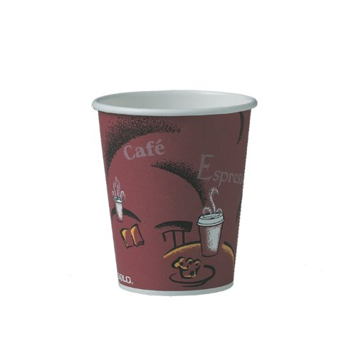 SOLO 370SI-0041 Single-Sided Poly Paper Hot Cup, 10 oz. Capa