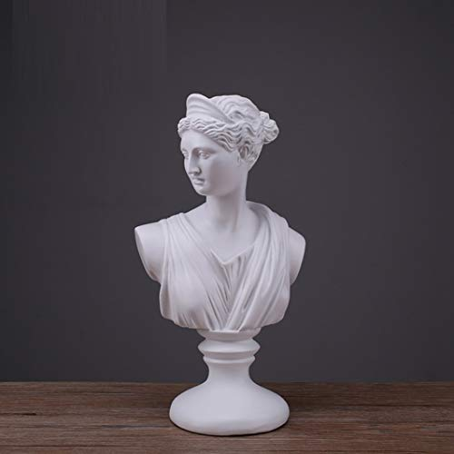 (JDSHSO Diana Apollo Bust Sculptural Gift Classical Greek Bust Statue Greek Mythology Home Desktop Decor)