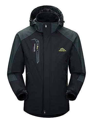 MAGCOMSEN Mens Windbreaker Jacket Winter Jacket Coat Windproof Ski Jacket Softshell M (Best Winter Jackets For Extreme Cold Mens)