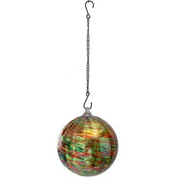 Very Cool Stuff VCSGHBSTR8 8 in. Hanging Stripe Swirl Glass Ball with Chain