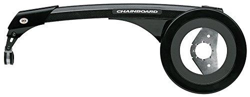 SKS Protège-chaîne 46/48 dents avec lunette en acier Noir