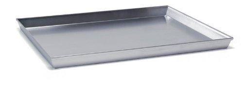 Ballarini 7044.30 Teglia Rettangolare, Angoli Svasati con Bordo in Alluminio Crudo, 30x23