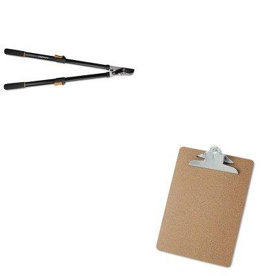 KITFSK91686935JUNV40304 - Value Kit - Fiskars Telescoping Power-Lever Bypass Lopper (FSK91686935J) and Universal 40304 Letter Size Clipboards (UNV40304)