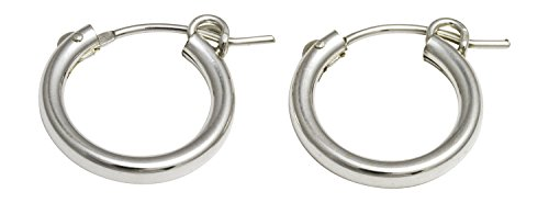 Sterling Silver Simple Earrings Click down