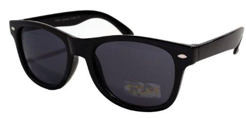 Kinder-Sonnenbrille, dunkle Gläser, UV400, 80er-Retrostil