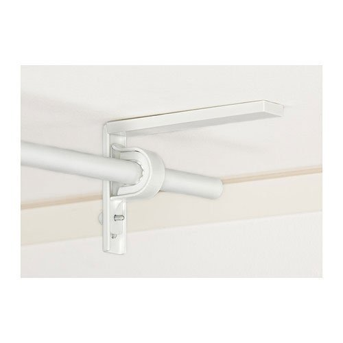 Ikea Curtain Rod Holder Bracket Wall/Ceiling Set Of 2 Steel White