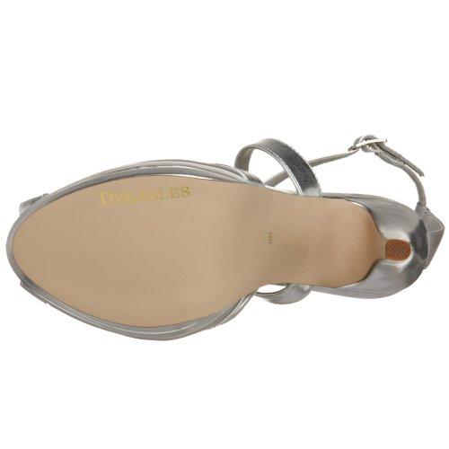 Dyeables Womens Vegas Platform Sandal Silver devmu