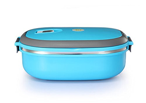Pumud Double Layer/ Single Layer Stainless Steel Children Lunch Box Keep Warm Food Container (Single Layer, Blue)
