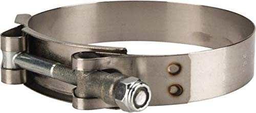 3-1//2 Hose T-Bolt Band Clamp 8 Pack 3//4 Wide x 0.025 Thick Campbell Fittings