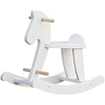Labebe Child Rocking Horse, Wooden Rocking Horse Toy, White Rocking Horse for kid 1 to 3 Years, Vintage Rocking Horse Set/Kid Rocking Horse Chair/Outdoor Rocking Horse/Rocker/Animal Ride/Rocking Toy