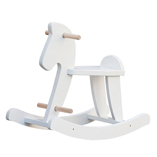labebe - RockingHorse, White Baby Rocker Chair, Kids Riding Toys for 1-3YearOld, Toddler Ride-on Toy, Infant Rocker Sleeper, Horse/Indoor Gaming/Outdoor Activities/Wooden/Girl/Boy/Animals/Floor