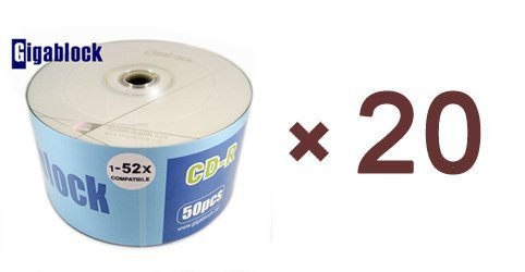 1000pcs CD-R 52x A Gigablock Branded Blank Media High Quality Fast Shipping Guarranteed