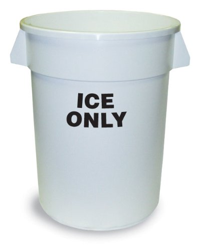 Receptacle Huskee (Continental 1001-ICE 10-Gallon Huskee Waste Receptacle, Legend