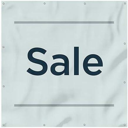 CGSignLab Basic Teal Wind-Resistant Outdoor Mesh Vinyl Banner Sale 8x8