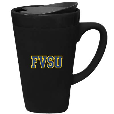 Design-1 Black The Fanatic Group Fort Valley State University Ceramic Mug with Swivel Lid