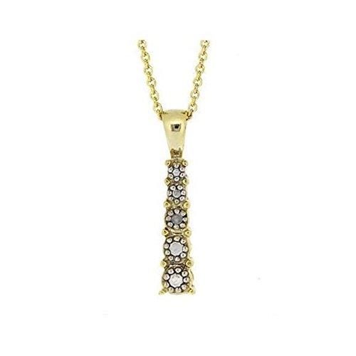 Glitzs Jewels Gold Tone Over Sterling Silver Simulated Diamond Accent Journey Pendant, 18''