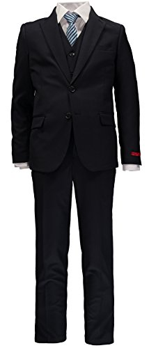 Five Piece Suit (Little Gentleman Boys' Formal 5-Piece Suit (Navy, 14))
