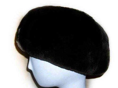 Black Sheared Beaver Beret-Unisex