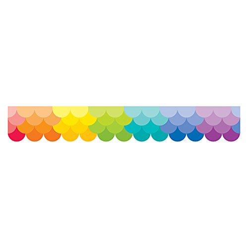 Creative Teaching Press Ombre Rainbow Scallops Borders (Scallop Border)