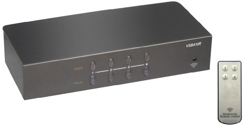 RF LINK 4-Port VGA Switcher (VSB-41IR) by RF Link
