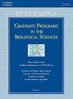 Grad Guides Book 3: Biological Science 2006 (Peterson's Graduate and Professional Programs in the Biological Sciences (Graduate Gu) (Peterson's Graduate Programs in the Biological Sciences)