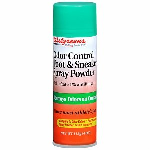 Walgreens Odor Control Foot & Sneaker Spray Powder 4 oz