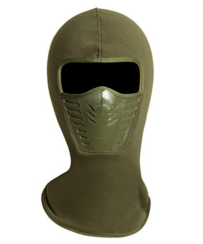 a327c298713 Adult Winter Fleece Grasping Balaclavas Face Cover Windproof Ski Mask Hat  Halloween.YR.Lover Army Green