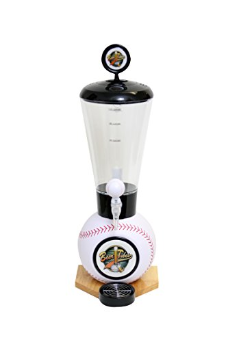 Beer Tubes Baseball Base Beverage Tower Dispenser with  Baseball Tap, 128 oz. Super Tube, White, BBL-ST-B by Beer Tubes
