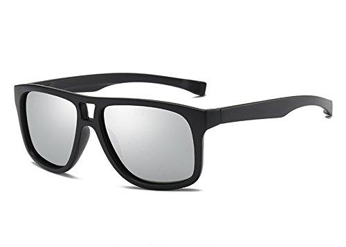 silver revêtement miroir les Marque polarisé Guide Lunettes unisexe Homme de pour black Mode Lunettes lunettes lunettes hommes de Sunglasses TL femmes Rw0qfYR